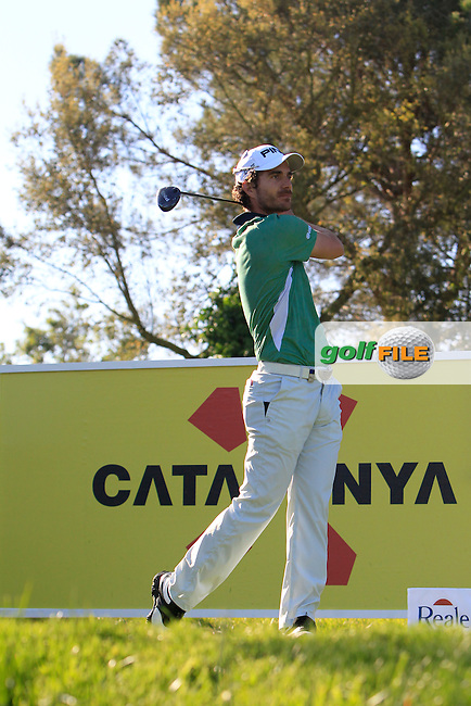 Alejandro Canizares (ESP) on the 13th tee during Thursday's Round 1 of The Open De Espana at The PGA Catalunya Resort. 15th May 2014.<br /> Picture:  Thos Caffrey / www.golffile.ie