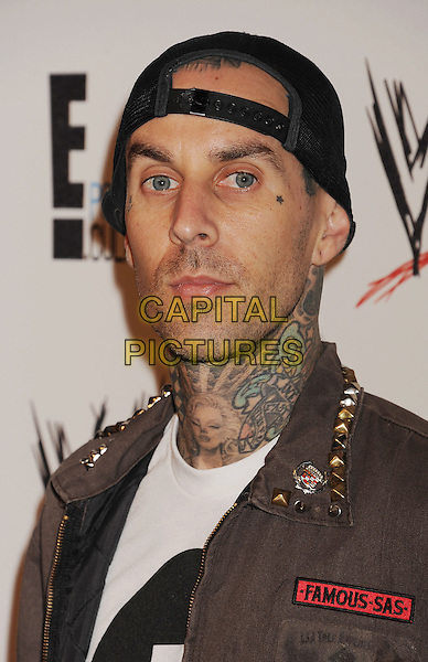 Travis Barker<br /> WWE &amp; E! Entertainment's &quot;SuperStars For Hope&quot; supporting Make-A-Wish at The Beverly Hills Hotel in Beverly Hills, CA., USA.<br /> August 15th, 2013<br /> headshot portrait black baseball cap hat tattoos<br /> CAP/ROT/TM<br /> &copy;Tony Michaels/Roth Stock/Capital Pictures