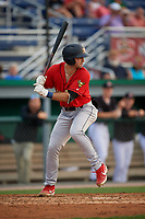 State College Spikes David Vinsky (11) at bat during a NY-Penn League game against the Batavia Muckdogs on July 2, 2019 at Dwyer Stadium in Batavia, New York.  Batavia defeated State College 1-0.  (Mike Janes/Four Seam Images)