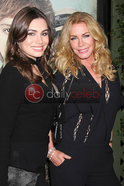 """Sophie Simmons, Shannon Tweed<br /> at the """"Suffragette"""" Premiere, Samuel Goldwyn Theater, Beverly Hills, CA 10-20-15<br /> David Edwards/DailyCeleb.Com 818-249-4998"""