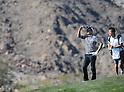 (L-R) Ryo Ishikawa (JPN), Hiroyuki Kato,.JANUARY 17, 2013 - Golf :.Ryo Ishikawa of Japan and his caddie Hiroyuki Kato during the first round of the Humana Challenge at PGA West in La Quinta, California, United States. (Photo by AFLO)