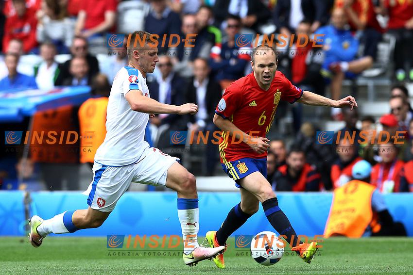 Andres Iniesta Spagna<br /> Toulouse 13-06-2016 Stade Municipal Footballl Euro2016 Spain - Czech Republic  / Spagna - Repubblica Ceca Group Stage Group D. Foto Matteo Ciambelli / Insidefoto