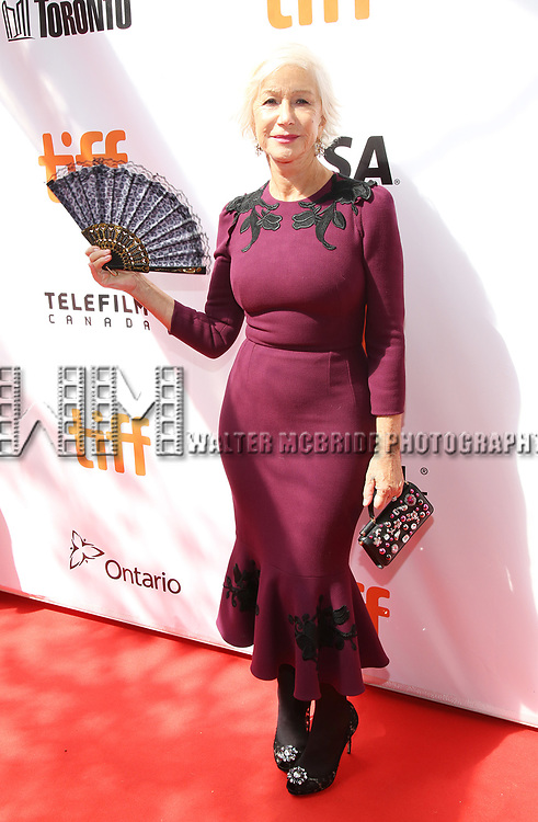 Helen Hirren attends the 'The Leisure Seeker'' premiere during the 2017 Toronto International Film Festival at Roy Thomson Hall on September 9, 2017 in Toronto, Canada.
