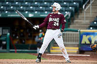 Koby Peebles #24 of the Missouri State Bears at bat during a game against the Wichita State Shockers at Hammons Field on May 5, 2013 in Springfield, Missouri. (David Welker/Four Seam Images)