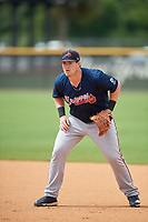 Atlanta Braves Mason Berne (36) during practice before a Minor League Spring Training game against the New York Yankees on March 12, 2019 at New York Yankees Minor League Complex in Tampa, Florida.  (Mike Janes/Four Seam Images)