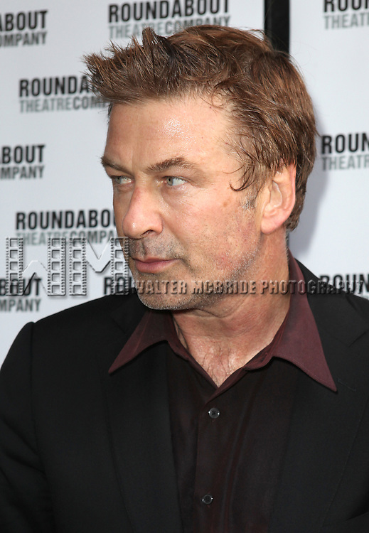 """Alec Baldwin.pictured at the Opening Night Arrivals for the Roundabout Theatre Company's Broadway Production of  """"Harvey"""" at Studio 54 New York City June 14, 2012"""