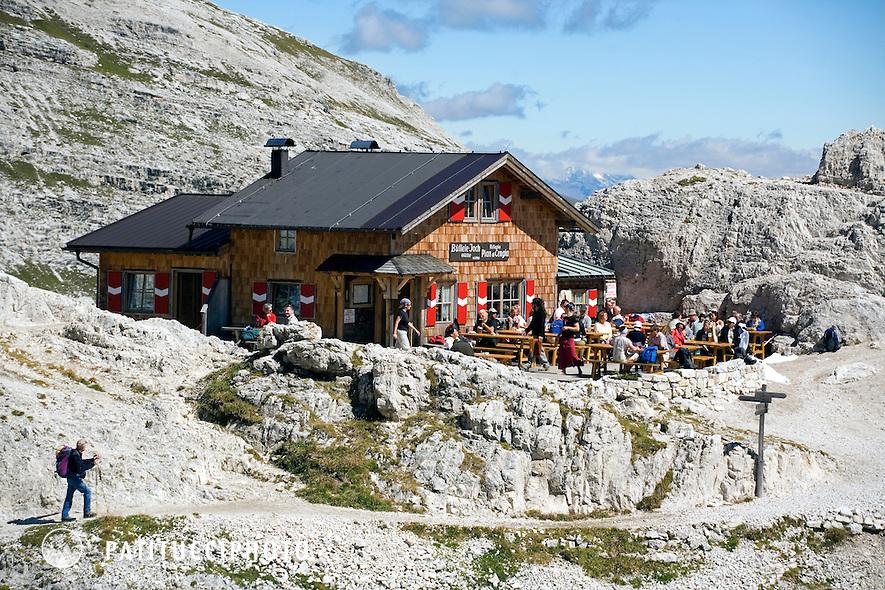 The Rifugio Pian di Cengia in the Italian Dolomites
