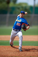 New York Mets Alex Palsha (20) during a minor league Spring Training game against the St. Louis Cardinals on March 31, 2016 at Roger Dean Sports Complex in Jupiter, Florida.  (Mike Janes/Four Seam Images)