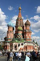 Basilius Kathedrale am Roten Platz in Moskau - 20.06.2018: Sightseeing Moskau