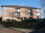 Local authority built former council flats housing in Woodbridge, Suffolk, England