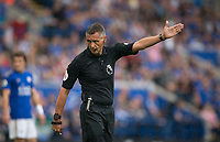 Referee Andre Marriner during the Premier League match between Leicester City and Wolverhampton Wanderers at the King Power Stadium, Leicester, England on 10 August 2019. Photo by Andy Rowland.