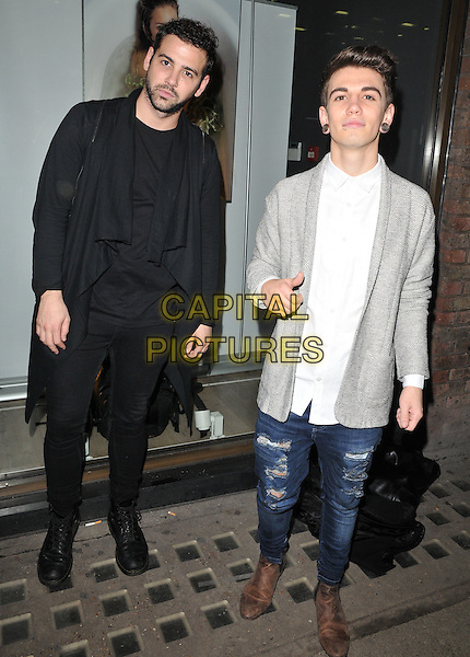 Jay Camilleri &amp; Jake Sims attend the Sugarbabes interactive website launch &amp; The Sugarbabes TV series trailer premiere, Alon Zakaim Gallery, Dover Street, London, England, UK, on Wednesday 18 November 2015. <br /> CAP/CAN<br /> &copy;CAN/Capital Pictures
