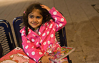 Safina sitting on a street bench High Street Birmingham 28th Oct 2009