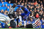 2nd December 2017, Stamford Bridge, London, England; EPL Premier League football, Chelsea versus Newcastle United; Ngolo Kante of Chelsea avoids Mikel Merino of Newcastle United challenge