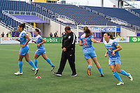 Orlando, FL - Saturday July 16, 2016: Rory Dames prior to a regular season National Women's Soccer League (NWSL) match between the Orlando Pride and the Chicago Red Stars at Camping World Stadium.