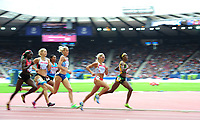Jamaica's Natoya Goule leads England's Jennifer Meadows in the women's 800m round 1 heat 1<br /> <br /> Photographer Chris Vaughan/CameraSport<br /> <br /> 20th Commonwealth Games - Day 7 - Wednesday 30th July 2014 - Athletics - Hampden - Glasgow - UK<br /> <br /> © CameraSport - 43 Linden Ave. Countesthorpe. Leicester. England. LE8 5PG - Tel: +44 (0) 116 277 4147 - admin@camerasport.com - www.camerasport.com