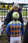 January 24, 2020: Jockey Martin Garcia talking with trainer Steven Asmussen in the winning circle after winning the Smarty Jones Stakes at Oaklawn Racing Casino Resort in Hot Springs, Arkansas on January 24, 2020. Justin Manning/Eclipse Sportswire/CSM