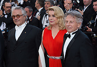 George Martin, Catherine Deneuve &amp; Roman Polanski at the 70th Anniversary Gala for the Festival de Cannes, Cannes, France. 23 May 2017<br /> Picture: Paul Smith/Featureflash/SilverHub 0208 004 5359 sales@silverhubmedia.com
