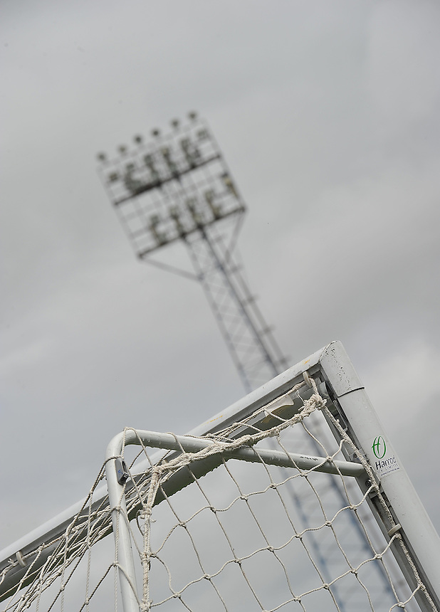 A general view of the SportsDirect.com Park, home of Oldham Athletic<br /> <br /> Photographer Dave Howarth/CameraSport<br /> <br /> Football - The Football League Sky Bet League One - Oldham Athletic v Fleetwood Town - Saturday 15th August 2015 - SportsDirect.com Park - Oldham<br /> <br /> &copy; CameraSport - 43 Linden Ave. Countesthorpe. Leicester. England. LE8 5PG - Tel: +44 (0) 116 277 4147 - admin@camerasport.com - www.camerasport.com