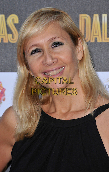 Tania Bryer.The Channel 5 Launch Party for the new series of 'Dallas', Old Billingsgate Market, London, England..21st August 2012.headshot portrait black sleeveless .CAP/WIZ.© Wizard/Capital Pictures.