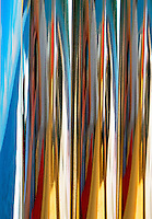 Reflections in Stainless Steel Pipes on a Luxury Yacht, Thailand