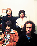 The Doors 1968 Ray Manzarek, Jim Morrison, Robbie Krieger and John Densmore at Top Of The Pops..© Chris Walter.