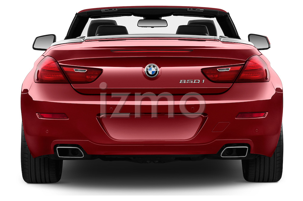 Straight rear view of a 2014 BMW 6 Series Convertible 3A