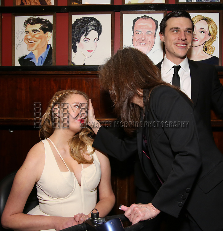 "Madison Ferris, Finn Wittrock and Sally Fiel attends the Broadway Opening Night After Party for ""The Glass Menagerie'"" at Sardi's on March 9, 2017 in New York City."