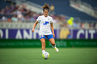 Orlando, FL - Sunday July 10, 2016: Angela Salem during a regular season National Women's Soccer League (NWSL) match between the Orlando Pride and the Boston Breakers at Camping World Stadium.
