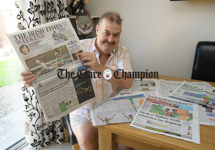 Uncle to the Olympic Silver rowing medallists, the O Donovan Brothers from Skibbereen, Mike Doab catches up with the national overage and headlines made by his nephews. Photograph by John Kelly.