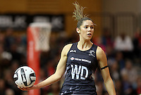 11.09.2016 Silver Ferns Kayla Cullen in action during the Taini Jamison netball match between the Silver Ferns and Jamaica played at Trafalgar Centre in Nelson. Mandatory Photo Credit ©Michael Bradley.