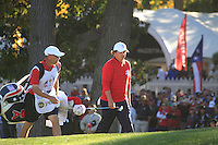 Jason Dufner walking onto the 18th green during the Sunday singles matches of the 39th Ryder Cup at Medinah Country Club, Chicago, Illinois .(Photo Colum Watts/www.golffile.ie)