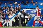 Antonio Conte manger of Chelsea during the premier league match at Stamford Bridge Stadium, London. Picture date 17th September 2017. Picture credit should read: David Klein/Sportimage