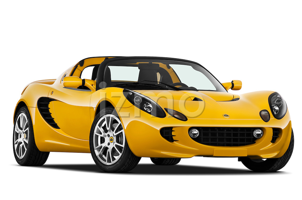 Low aggressive passenger side front three quarter view of a 2009 Lotus Elise SC 2 Door Convertible.
