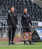 Bristol head coach Dean Holden (left) and assistant head coach Jamie McAllister (right)<br /> <br /> Photographer David Horton/CameraSport<br /> <br /> The EFL Sky Bet Championship - Swansea City v Bristol City- Saturday 18th July 2020 - Liberty Stadium - Swansea<br /> <br /> World Copyright © 2019 CameraSport. All rights reserved. 43 Linden Ave. Countesthorpe. Leicester. England. LE8 5PG - Tel: +44 (0) 116 277 4147 - admin@camerasport.com - www.camerasport.com