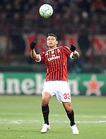 FUSSBALL   CHAMPIONS LEAGUE   SAISON 2011/2012     15.02.2012 AC Mailand - Arsenal London Thiago Silva (AC Mailand)