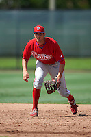 Philadelphia Phillies Brendon Hayden (43) during an instructional league game against the Toronto Blue Jays on October 3, 2015 at the Carpenter Complex in Clearwater, Florida.  (Mike Janes/Four Seam Images)