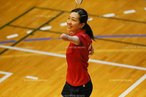 Mamiko Toyoda, <br /> FEBRUARY 6, 2016 - Badminton : <br /> The 1st Japan National Badminton Championships <br /> Women's singles SU5+ <br /> at Kurume city western gymnasium, Fukuoka, Japan. <br /> (Photo by Yohei Osada/AFLO SPORT)