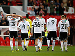 Sheffield Utd players walk off dejected during the Championship match at the City Ground Stadium, Nottingham. Picture date 30th September 2017. Picture credit should read: Simon Bellis/Sportimage