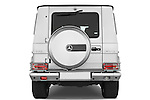 Straight rear view of a 2008 Mercedes Benz G55 AMG