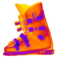 X-Ray of a ski boot