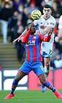Christian Benteke of Crystal Palace challneged by John Egan of Sheffield Utd during the Premier League match at Selhurst Park, London. Picture date: 1st February 2020. Picture credit should read: Paul Terry/Sportimage