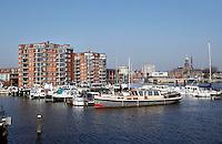 Boten in de haven bij Hoge Horn in Zaandam