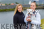 Charlotte and Ciara Murphy from Tralee with Phoebe the dog enjoying a stroll in Blennerville on Sunday.