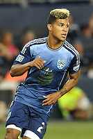 Sporting Park, Kansas City, Kansas, July 31 2013:<br /> DeAndre Yedlin (20) MLS All-Stars.<br /> MLS All-Stars were defeated 3-1 by AS Roma at Sporting Park, Kansas City, KS in the 2013 AT & T All-Star game.