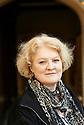 Elizabeth Edmondson Historical Mystery  writer at Oxford Literary Festival  at Corpus Christie College, Oxford  2014 CREDIT Geraint Lewis