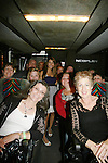 Chrishell Stause and fans on bus at AMC Bus Trip Around Manhattan held on September 12, 2009 from the upper east side to Battery Park, Ground Zero and all around Manhattan. (Photo by Sue Coflin/Max Photos)