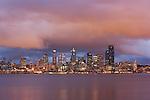 Seattle at dusk, Washington