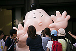 A mascot called Pianishiki greets fans during the ''Local Characters Festival in Sumida 2015'' on May 31, 2015, Tokyo, Japan. The festival is held by Sumida ward, Tokyo Skytree town, the local shopping street and ''Welcome Sumida'' Tourism Office. Approximately 90 characters attended the festival. According to the organizers the event attracts more than 120,000 people every year. The event is held form May 30 to 31. (Photo by Rodrigo Reyes Marin/AFLO)