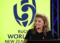 4th February 2020, Eden Park, Auckland, New Zealand;  Dame Julie Christie (RWC2021 Organising Committee Chair).<br /> RWC 2021 New Zealand Kick-Off event at Eden Park, Auckland, New Zealand on Tuesday 4th February 2020.
